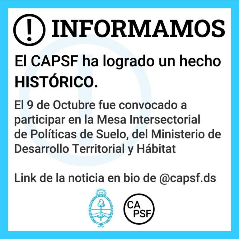 El CAPSF ha logrado un hecho HISTÓRICO