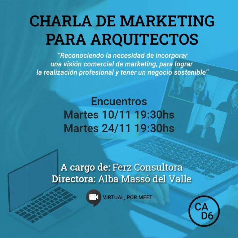 Charlas Marketing para Arquitectos